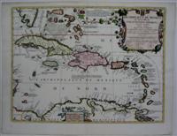 Archipelague du Mexique ou Sont les Isles de Cuba, Espagnole, Jamaique, etc avec les Isles Lucayes,...