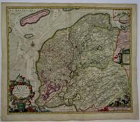 Dominii Frisiae Tabula, inter Flevum et Lavicam: N. Visscher