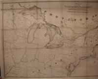 Map of the Basin of the St. Lawrence, showing also the Natural and Artificial Routes Between the ...