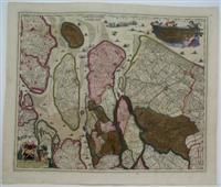 Delflandia Schielandia et Circumjacentes Insulae ut Voorna Overflackae Goerea: Visscher