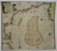 Pas-Kaart Niew Engeland Tusschen de Staaten Hoek en D. de Sable. . .: Johannes van Keulen