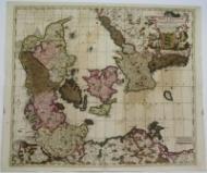 Dania Regnum in quo sunt Ducatus Holastia et Slesvicum Insulae Danicae.: F. de Wit