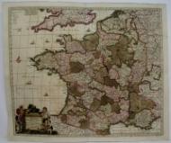 Accuratissima Galliae Tabula Gallis Vulgo Dictale Royaume de France.: F. de Wit