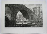 Veduta del Ponte Ferrato dagl' Antiquari detto Cestio: G.B. Piranesi