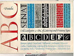 Erik Lindegren: An ABC-Book of Lettering and: Lindegren, Erik