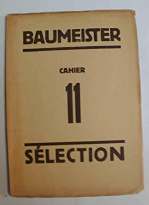 Sélection cahier 11: Willi Baumeister (selection)