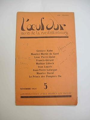 L'oeuf dur, , n°5 novembre 1921 (revue): N/A