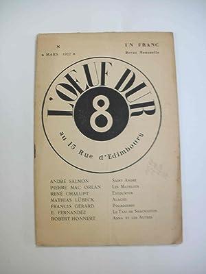 L'oeuf dur, n°8, mars 1922: N/A