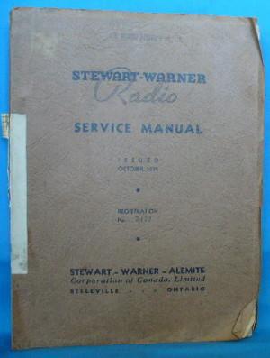 Stewart-Warner Radio Service Manual