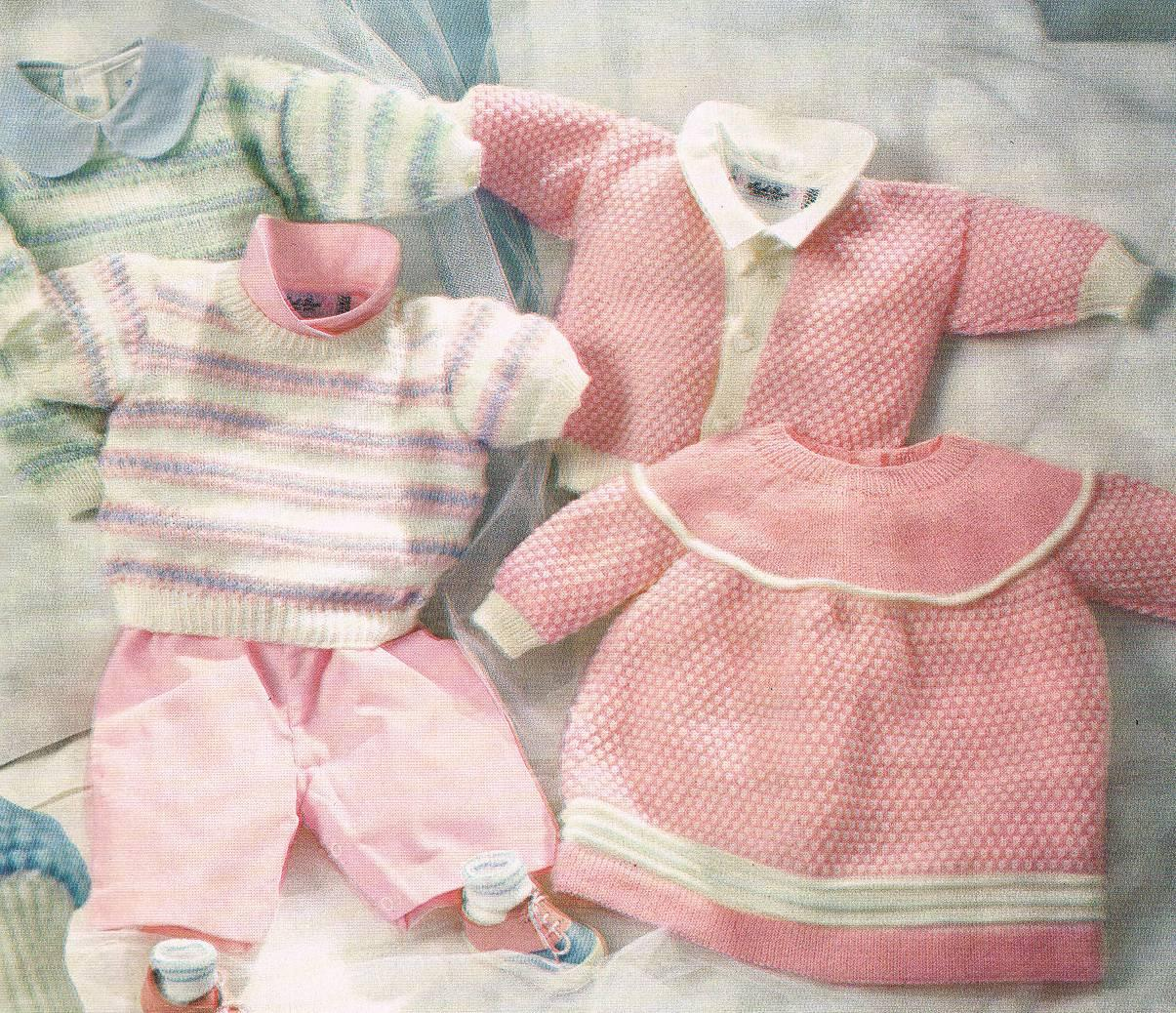 Baby Clothes Knitting Patterns : Phildar mailles baby clothes knitting pattern booklet