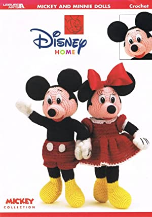 Leisure Arts Disney Home Collection Crochet Pattern: Mickey And Minnie Dolls: Leisure Arts
