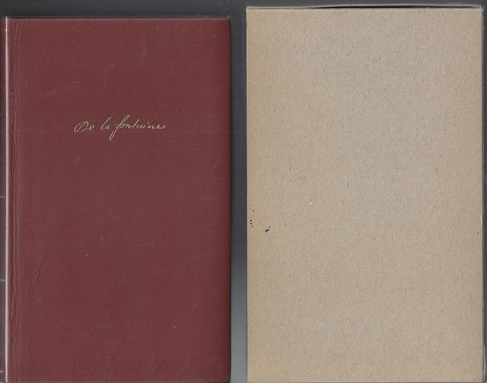 Sämtliche Fabeln, Zweisprachige Dünndruckausgabe, Leder: de la Fontaine,