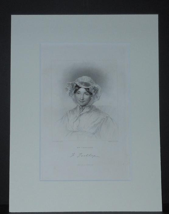 Etching of Frances Trollope drawn by Miss L. Adams and Engraved by W. Holl: Adams, Miss L. [...