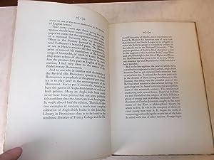A Providence Episode in the Irish Literacy Renaissance: Horace Reynolds