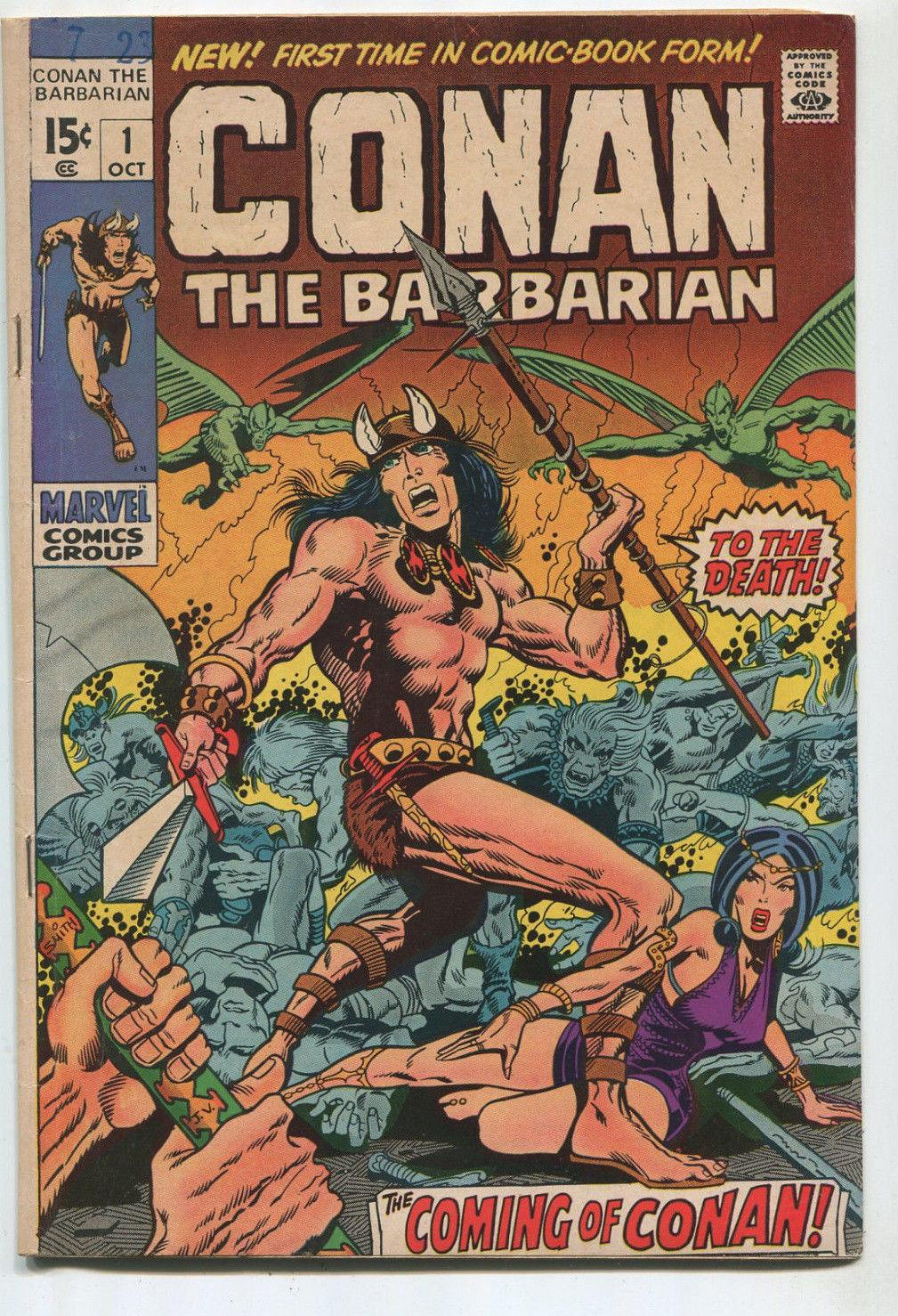 Conan The Barbarian #1 VG+ The Coming Of Conan Marvel Comics SA Comic Book Comic Book Comic Book Softcover You are purchasing the comic shown/listed in the titlePlease be familiar with comic grading terms like: Very Fine, Very Good, Near Mint. Grade is our
