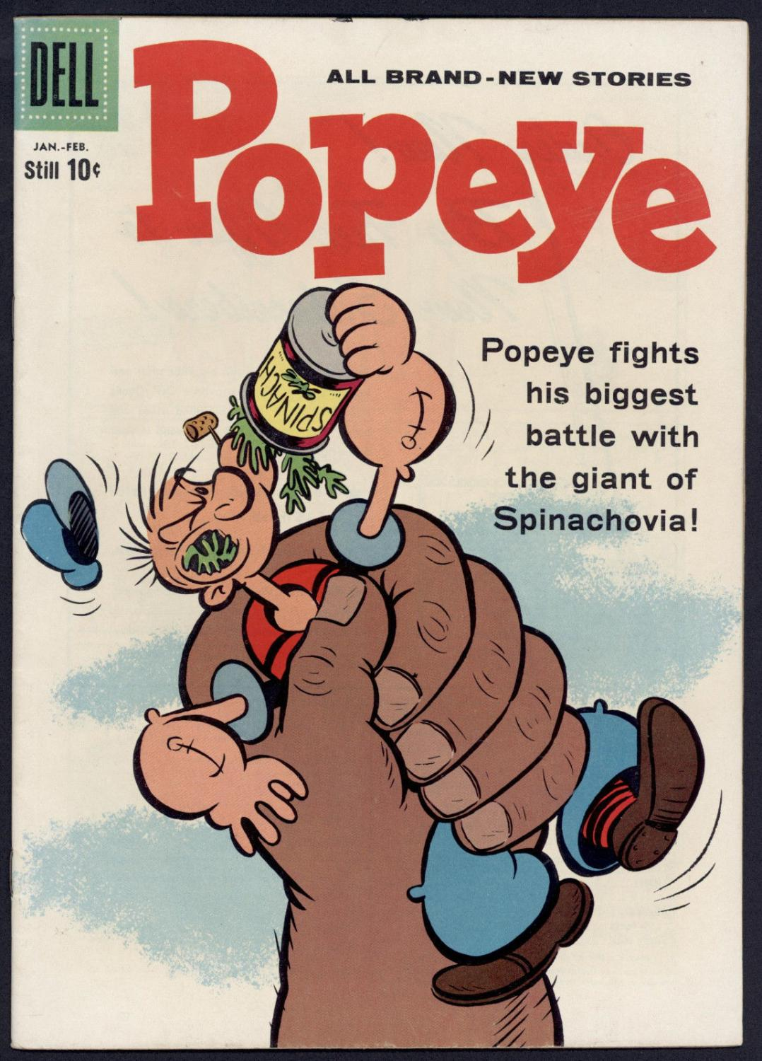 Still Pictures Are All Very Fine And >> Popeye 51 Volume 1 Giant Of Spinichovia Fine Very Fine Dell