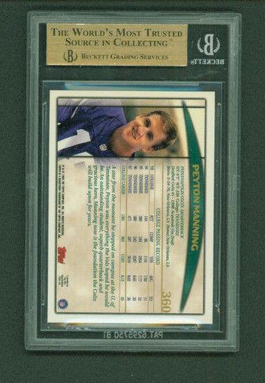 1998 Topps 360 Peyton Manning Rookie Card