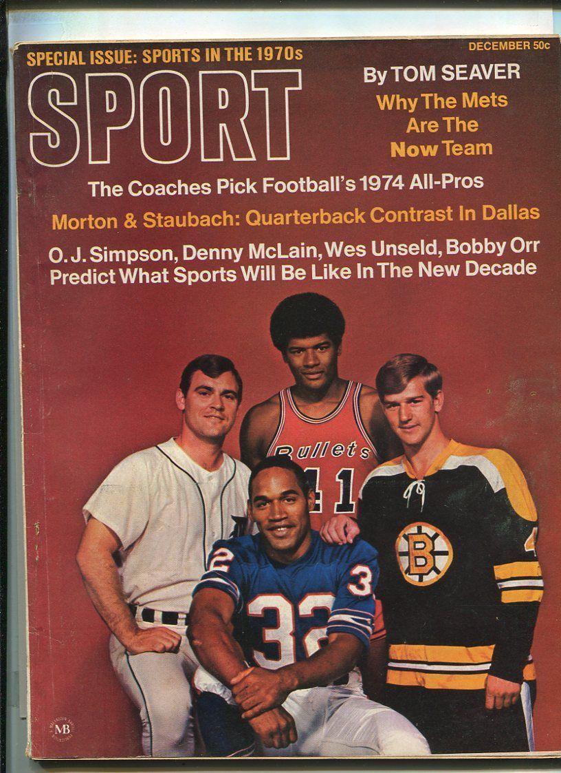 Sport Dec 1969 Roger Staubach O J Simpson