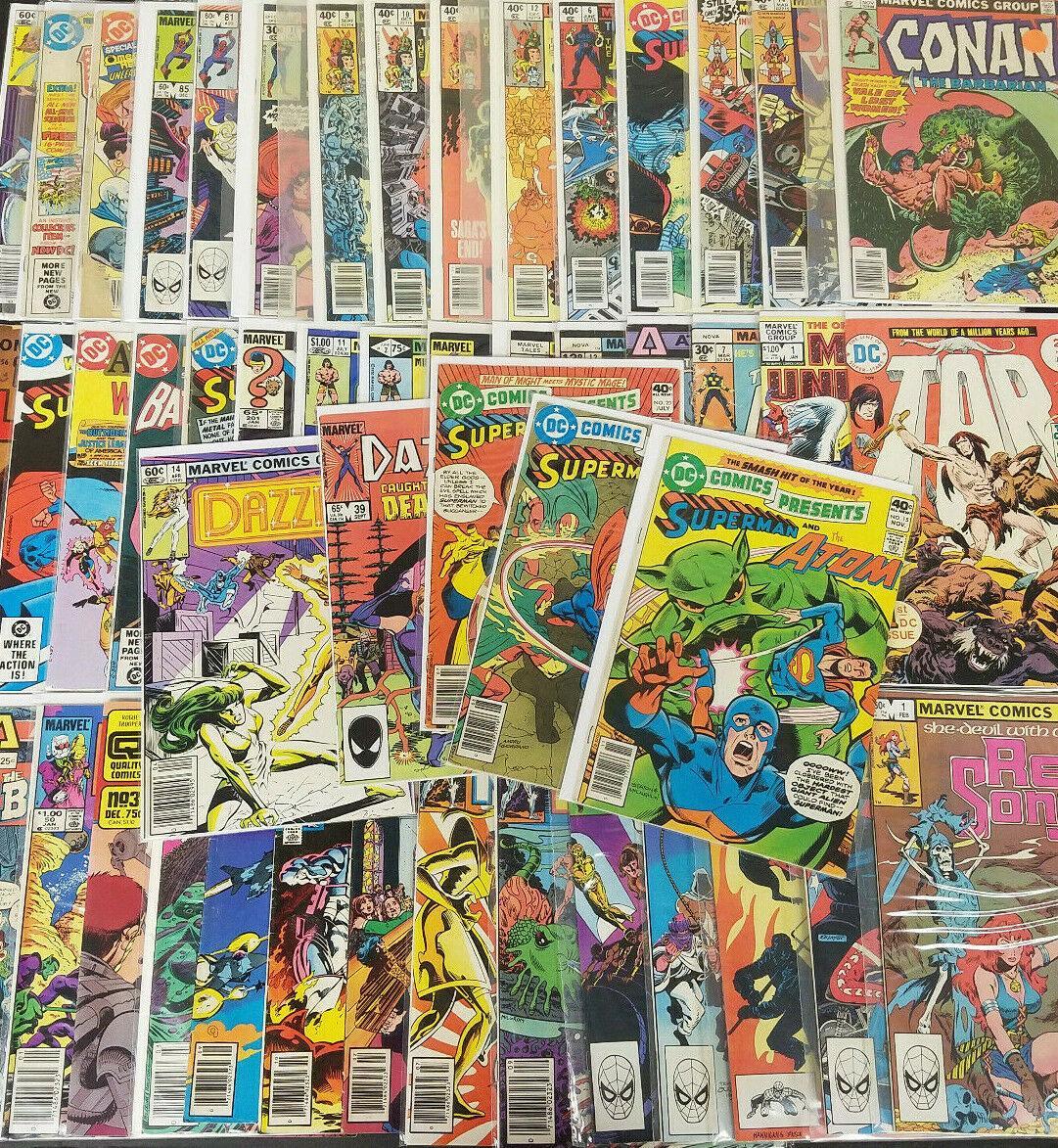 Vintage Copper/Bronze 100 Lot of Comic Books Superhero Marvel DC Huge Lot F Comic Book [ ] [Softcover] (bi_30472833966) photo