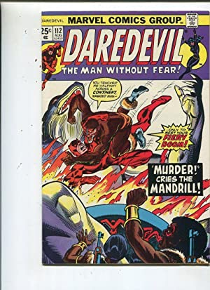 Daredevil #112 Fine 1974 Death Of A