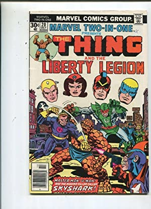 Marvel Two -In-One #20 Very Good/Fine 1976 Thing And Liberty Legion *SA Comic Book