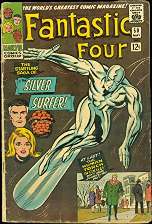 FANTASTIC FOUR #50 GOOD/VG SILVER SURFER / GALACTUS 1966 SA Comic Book