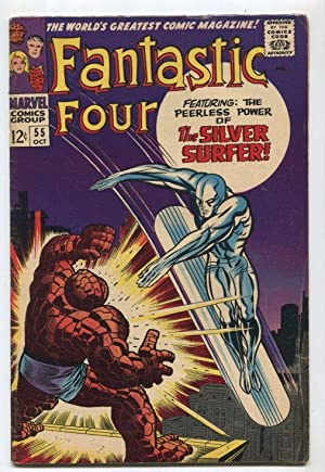 Fantastic Four # 55 VG/FN The Silver Surfer Marvel Comics SA Comic Book