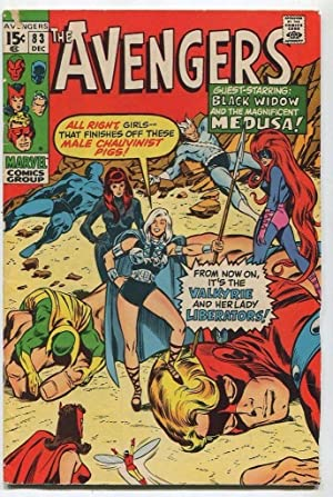 The Avengers #83 VG 1st Valkyrie Marvel Comics SA Comic Book