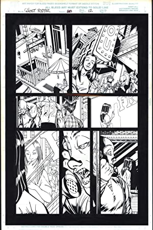 Josh Hood / Derek Fisher Original Comic Art Page Ghost Rider Issue 88 Page 12 Comic Book