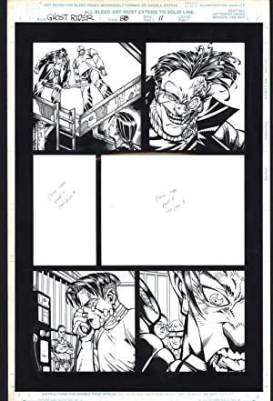 Josh Hood / Derek Fisher Original Comic Art Page Ghost Rider Issue 88 Page 11 Comic Book