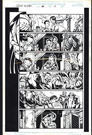 Josh Hood / Derek Fisher Original Comic Art Page Ghost Rider Issue 88 Page 10 Comic Book
