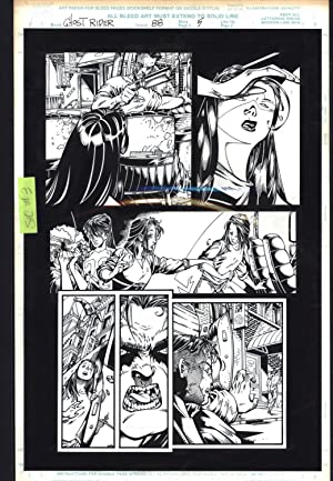 Josh Hood / Derek Fisher Original Comic Art Page Ghost Rider Issue 88 Page 5 Comic Book