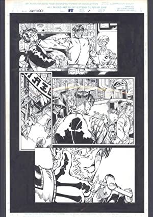 Josh Hood / Derek Fisher Original Comic Art Page Ghost Rider Issue 88 Page 2 Comic Book