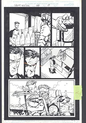 Josh Hood / Derek Fisher Original Comic Art Page Ghost Rider Issue 88 Page 15 Comic Book