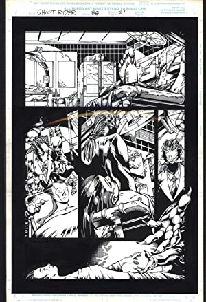 Josh Hood / Derek Fisher Original Comic Art Page Ghost Rider Issue 88 Page 21 Comic Book