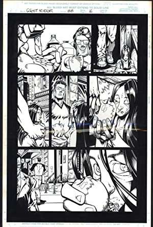 Josh Hood / Derek Fisher Original Comic Art Page Ghost Rider Issue 88 Page 16 Comic Book