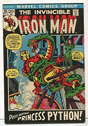Invincible Iron Man #50 NM- Preee-senting Princess Python SA Comic Book