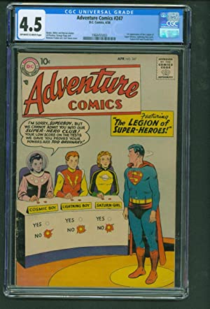 Adventure Comics #247 CGC 4.5 OW/WH 1st app Legion of Super-Heroes 1958 DC Key Comic Book