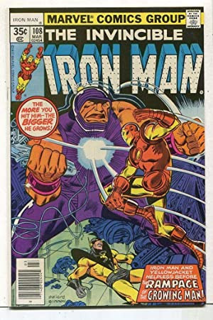 The Invincible Iron Man #108 NM Iron Man And Yellowjacket SA Comic Book