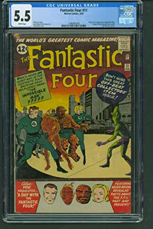 FANTASTIC FOUR #11 CGC 5.5 White Origin 1st Impossible Man! Origin of FF retold Comic Book