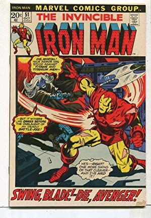 Invincible Iron Man #51 VG/FN Swing Blade Die,Avenger! SA Comic Book