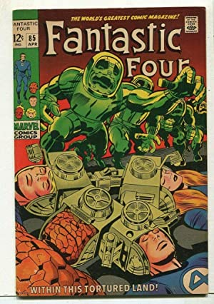 Fantastic Four #85 VF- Within This Tortured Land Marvel Comics SA Comic Book