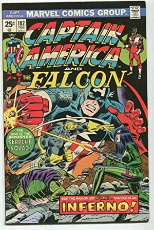 Captain America And The Falcon #182 VF Inferno Marvel Comics CBX39B Comic Book