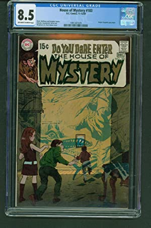House of Mystery 183 CGC 8.5 OW/White DC Horror Comic Book