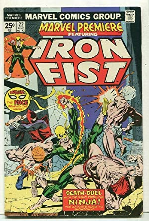 Marvel Premire-Iron Fist #22 FN/VF Death Duel With Ninja Marvel Comics SA Comic Book