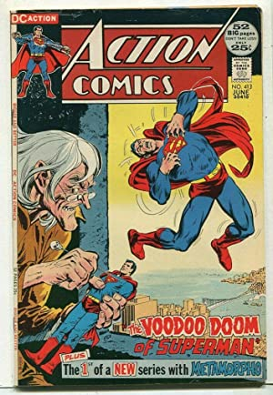 Action Comics-Superman #413 VF VooDoo Doom Of Superman DC Comics SA Comic Book