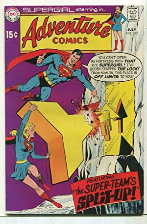 Adventure Comics-Supergirl #382 FN/VF Super-Teams Split-Up DC Comics SA Comic Book