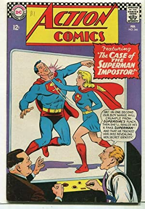 Action Comics-Superman #346 FN+ The Case Of The Superman Impostor DC Comics SA Comic Book