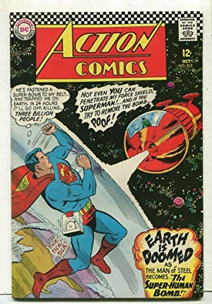 Action Comics-Superman #342 VF Earth Is Doomed DC Comics SA Comic Book