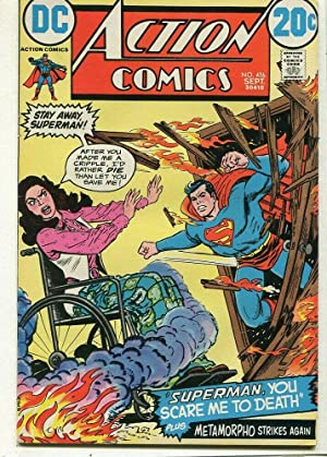 Action Comics-Superman #416 VF Metamorpho Strikes Again DC Comics SA Comic Book